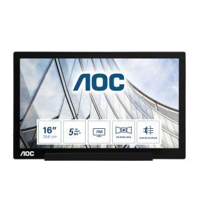USB monitor - I1601FWUX - 16in - 1920x1080 (Full HD) - 5ms - USB Type-C