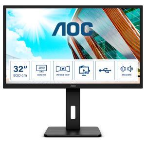 Desktop Monitor - Q32P2CA - 31.5in - 2560x1440 (WQHD) - Black - 4ms IPS speakers