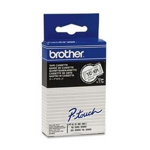 Tape 12mm Lami Black On Clear (tc101)