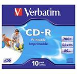Cdr Recorder Media 700MB 80min 52x Datalife Plus Fast Dry Printable 10-pk With Jewel Case